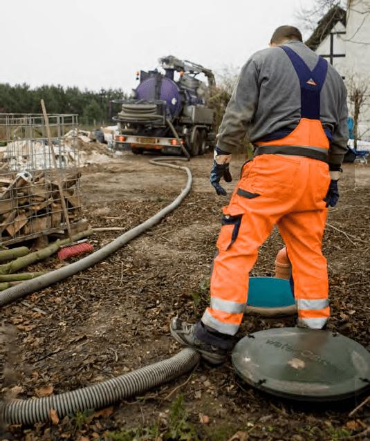 tömning av slamavskiljare avlopp hög skyddsnivå
